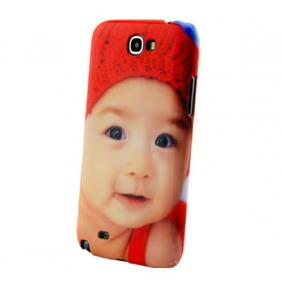 3D Sublimation  white blank DIY Case (GLOSS )for SAMSUNG NOTE2 N7100 -Edge Printable cases- can be  printed by 3D Sublimation Vacuum Heat Press machine