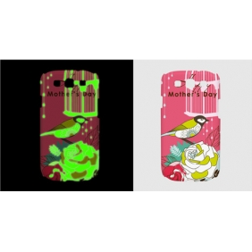 3D Sublimation  white blank DIY Case (Luminous )for SAMSUNG GALAXY S3 I9300  -Edge Printable cases- can be  printed by 3D Sublimation Vacuum Heat Press machine