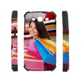 3D 2in1 Dual Protective Sublimation  blank DIY Case(GLOSS) for SAMSUNG GALAXY S3 I9300  - Edge Printable cases- can be  printed by 3D Sublimation Vacuum Heat Press machine
