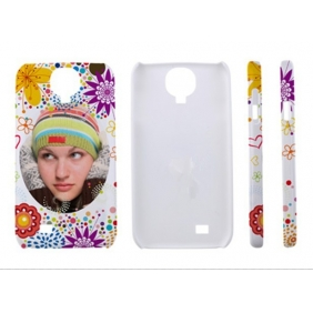 3D Sublimation  white blank DIY Case (GLOSS )for SAMSUNG GALAXY S4 I9500 -Edge Printable cases- can be  printed by 3D Sublimation Vacuum Heat Press machine