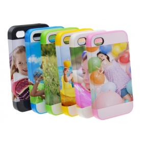 Card Insert 3D Sublimation  white blank DIY Case (MATTE SIX COLOR  )for APPLE IPHONE4 4S -Edge Printable Personalized cases- can be  printed by 3D Sublimation Vacuum Heat Press machine