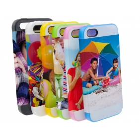 Card Insert 3D Sublimation  white blank DIY Case (MATTE SIX COLOR  )for APPLE IPHONE5 -Edge Printable Personalized cases- can be  printed by 3D Sublimation Vacuum Heat Press machine