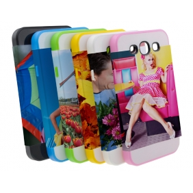 Card Insert 3D Sublimation  white blank DIY Case (MATTE SIX COLOR  )for SAMSUNG GALAXY S3 I9300 -Edge Printable Personalized cases- can be  printed by 3D Sublimation Vacuum Heat Press machine