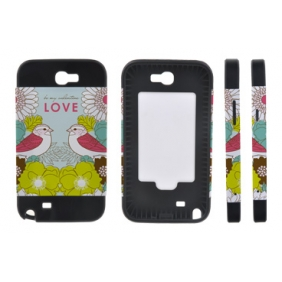 Card Insert 3D Sublimation  white blank DIY Case (MATTE SIX COLOR  )for SAMSUNG GALAXY NOTE2 N7100 -Edge Printable Personalized cases- can be  printed by 3D Sublimation Vacuum Heat Press machine