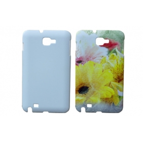 3D Sublimation  white blank DIY Case (GLOSS )for SAMSUNG GALAXY NOTE I9220  -Edge Printable cases- can be  printed by 3D Sublimation Vacuum Heat Press machine