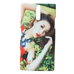 3D Sublimation  white blank DIY Case (GLOSS )for SONY XPERIA LT26I  -Edge Printable cases- can be  printed by 3D Sublimation Vacuum Heat Press machine
