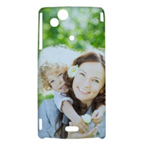3D Sublimation  white blank DIY Case (GLOSS )for SONY XPERIA LT18I  -Edge Printable cases- can be  printed by 3D Sublimation Vacuum Heat Press machine