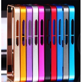Ultra thin Aluminum protective metal bumper case cover with 2PCS screen protector for XIAOMI MI2S M2S