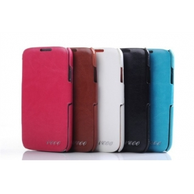 Genuine real cow leather protective  case cover  with 2PCS screen protector  for Samsung Galaxy S4 SIV I9500