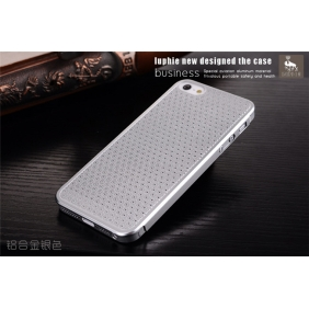 Hollow style  Aluminum Alloy bumper Frame protective  case cover  with 2PCS screen protector   for Apple IPhone5
