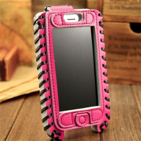 Hnadmade Genuine real cow leather  protective  case cover  for Apple IPhone5
