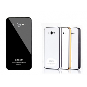 Tempered glass Back case+ metal bumper  Protective  Shell Case Cover with 2PCS screen protector  for XIAOMI M2S MI2S