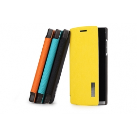 Elegant Side Flip Leather protective  case cover shell  with 2PCS screen protector   for  OPPO FIND5 X909
