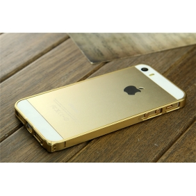 Ultra thin 0.7MM Aluminum Alloy Metal bumper Frame protective  case cover Shell   with 2PCS screen protector for Apple IPhone5 5S