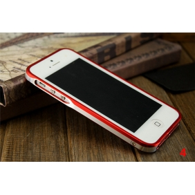 New Sword Aluminum Alloy Protective Metal Bumper Shell  Case Cover with 2PCS screen protector for APPLE IPHONE5 5S