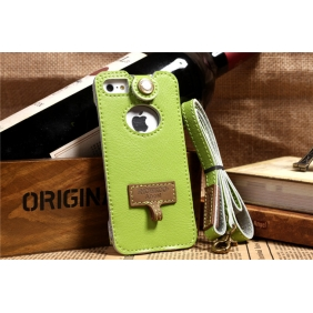 Genuine real cow leather  protective  case cover  for Apple IPhone5
