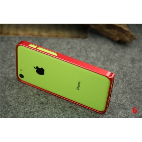 Ultra thin 0.7MM  Aluminum Alloy Protective Metal Bumper Shell  Case Cover with 2PCS screen protector  for APPLE IPHONE5C
