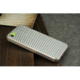 Aluminum Alloy Protective Metal Shell  Case Cover  with Carbon fiber Bumper with 2PCS screen protector  for APPLE IPHONE5C