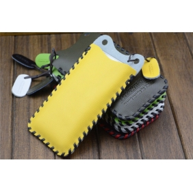 Genuine Cow Leather Protective case bag with 2PCS screen protector   for APPLE IPHONE5C IPHONE5 5S