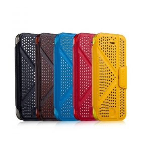 Polka Dot style Flip Leather  Protective Shell Case Cover shell with stand function with 2PCS screen protector for APPLE IPHONE5C