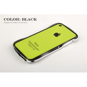 Silm Waist  Aluminum Alloy Protective Metal Bumper Shell  Case Cover  with 2PCS screen protector for APPLE IPHONE5C