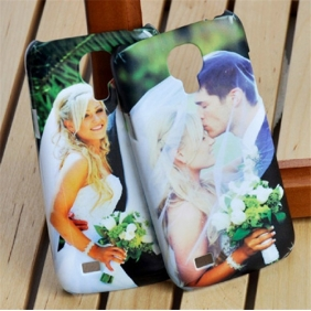 3D Sublimation  white blank DIY Case (GLOSS )for SAMSUNG GALAXY S4 MINI -Edge Printable cases- can be  printed by 3D Sublimation Vacuum Heat Press machine