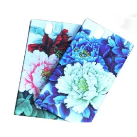 3D Sublimation  white blank DIY Case (GLOSS )for SONY XPERIA Z L36H   -Edge Printable cases- can be  printed by 3D Sublimation Vacuum Heat Press machine