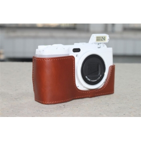 Genuine Cow Leather Protective  Bottom  Case Cover Bag for RICOH GRD4 GRD3