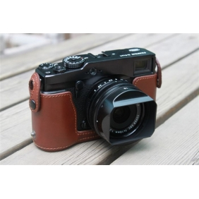 Genuine Cow Leather Protective  Bottom  Half Case Cover Bag for FUJI FUJIFILM X-PRO1