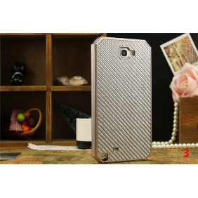 Aluminum Alloy metal bumper Frame protective cover shell with carbon fiber back case for SAMSUNG GALAXY NOTE2 NOTE II N7100