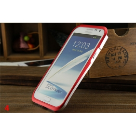 Dual color Waist style Aluminum Alloy metal bumper Frame protective cover shell for SAMSUNG GALAXY NOTE2 NOTE II N7100