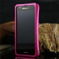 Aluminum protective metal bumper case cover with 2PCS screen protector  for SONY XPERIA ZR M36H C5502