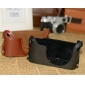 Genuine Cow Leather Protective  Bottom  Half Case Cover Bag for LEICA Mini M LEICA X VARIO
