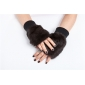 Luxury  Womens Winter Rabbit fur  Genuine Real  Lambskin Sheepskin  Leather Warm Gloves Cashmere Lined