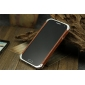 Metal+wooden bumper Protective Shell Case Cover  with 2PCS screen protector  for Samsung Galaxy S4