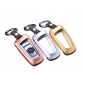 DAYJOY Premium Aluminum Car Key Shell Cover With Key Chain For BMW SERIES X3 X4 M2 M3 M4 M5 M6 1 2 3 4 5 series
